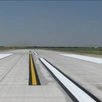 Scott City Airport New Pavement Marking On Runway 17 35, Near Taxiway A2
