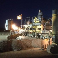 Anthony KS Airport Concrete Paving For The Runway Night