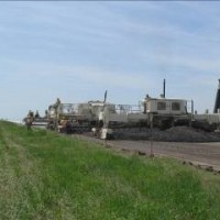 Scott City Airport Paving Train On Runway