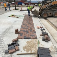 Marion Streetscape Brick Paver Ribbon In Napa Block