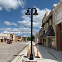 Marion Streetscape Light Pole Installation